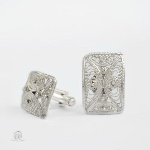 Butoni unicat din argint filigranat, butoni argint, butoni bărbați