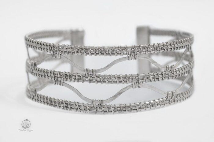 Brățară braț, reglabilă, argint simplu, bratara argint, argint handmade